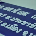 CNC Laser อะคริลิค ตัวหนังสือ